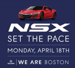 Acura NSX Sets Pace in Boston Marathon!